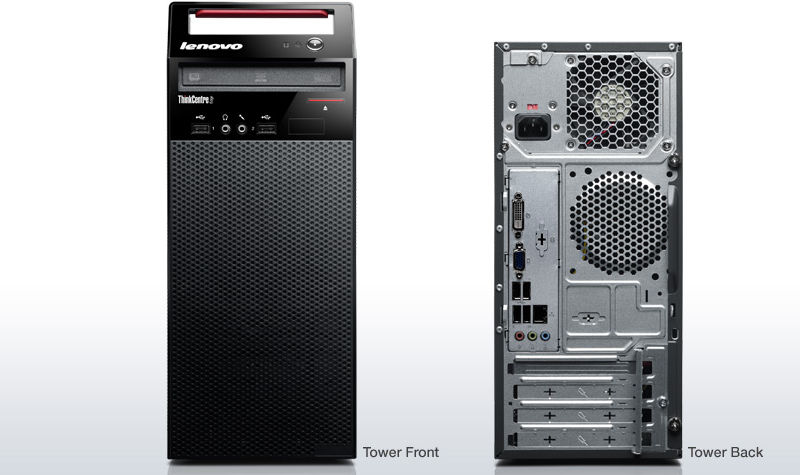 slide 1 of 6,show larger image, thinkcentre edge 72: front/back view.