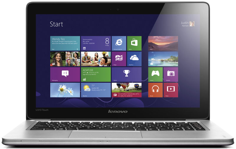 Slide 1 Of 12show Larger Image Ideapad U310 Touch Front View